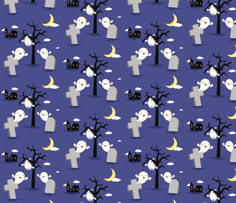 GHOSTS_FINAL fabric by kxh on Spoonflower - custom fabric