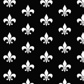 single_fleur_de_lis black