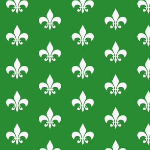 single_fleur_de_lis_green