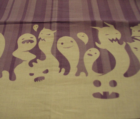 Cute Ghost Border Print