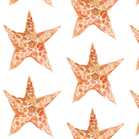 Starfish party fabric by maybonne on Spoonflower - custom fabric