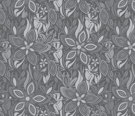 Grey Frog Grey Frog fabric by ebygomm on Spoonflower - custom fabric