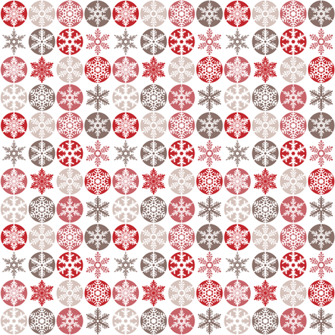 Small snowflakes candy cane