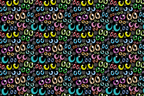 Manga eyes fabric by cassiopee on Spoonflower - custom fabric
