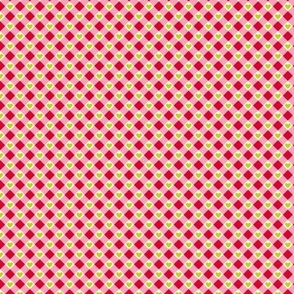 Check Hearts- red