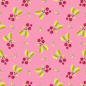 Holly Flower - pink