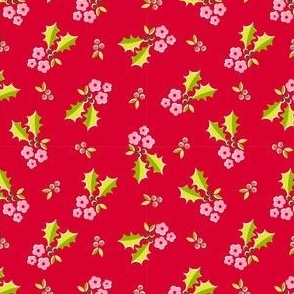 Holly Flower - red