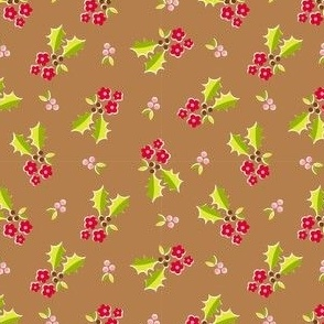 Holly Flower - brown