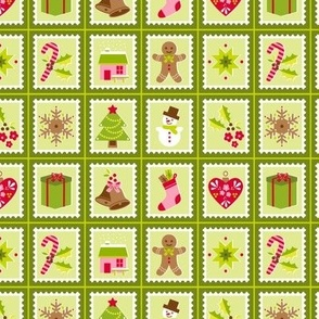 Postage Stamps - green