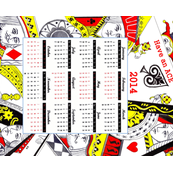 Playing cards 2014 calendar -ed