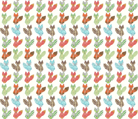 Furry Fox fabric by kbexquisites on Spoonflower - custom fabric
