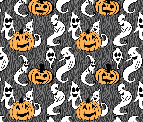 Haunted Humor fabric by pond_ripple on Spoonflower - custom fabric