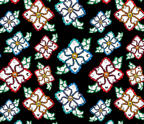Ghost Flowers fabric by antonybriggs on Spoonflower - custom fabric
