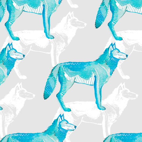 Wolf Pack fabric by emilysanford on Spoonflower - custom fabric