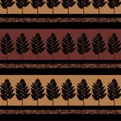 African Fern Stripe Motif
