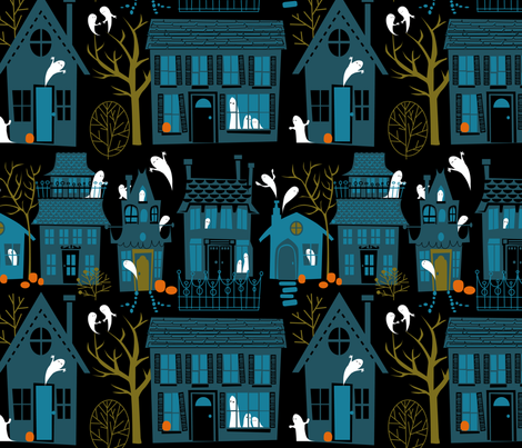 Neighbors at the Manor fabric by robinpickens on Spoonflower - custom fabric