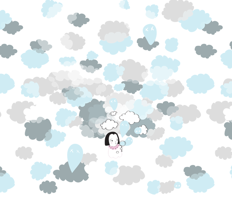 Ghost bubbles fabric by nobonesleft on Spoonflower - custom fabric