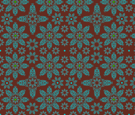 BLUE_SPIRALS-2-blue-choclate-lime fabric by iesza-jessica on Spoonflower - custom fabric