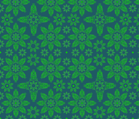 BLUE_SPIRALS-2-green2 fabric by i-jessicajordan on Spoonflower - custom fabric