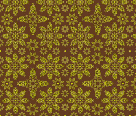 BLUE_SPIRALS-2-lime_chocolate fabric by iesza-jessica on Spoonflower - custom fabric