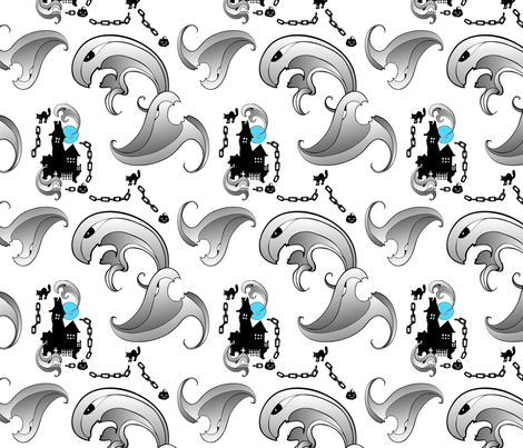 2013-October-Spoonflower-Ghosts-01 fabric by kevinheyse on Spoonflower - custom fabric