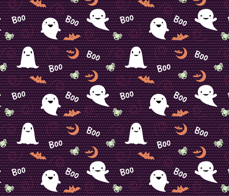 Wicked Boo Party fabric by laurinha_ on Spoonflower - custom fabric