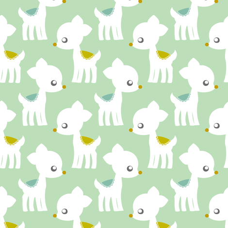 Lovely Deer fabric by natitys on Spoonflower - custom fabric