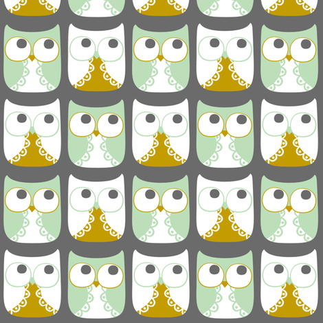Snow Owls fabric by natitys on Spoonflower - custom fabric