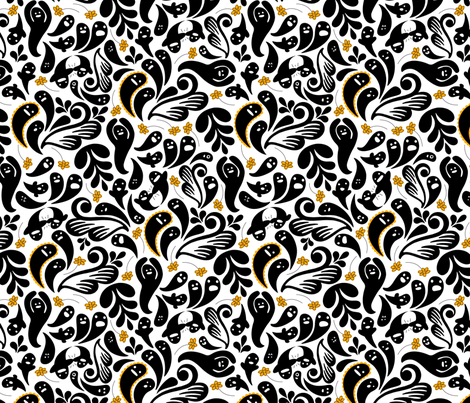 Paranormal Paisley fabric by nadiahassan on Spoonflower - custom fabric