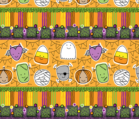 AHH gHOST OF FRIENDS fabric by dwdesigns on Spoonflower - custom fabric