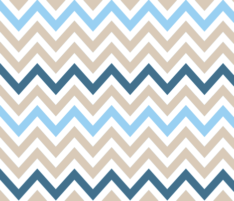 Beach Chevron fabric by fable_design on Spoonflower - custom fabric