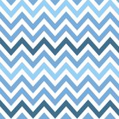Beach Blue Chevron