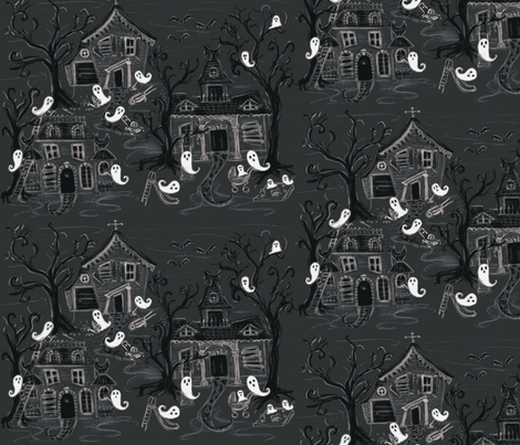 Ghost town fabric by susanm45 on Spoonflower - custom fabric