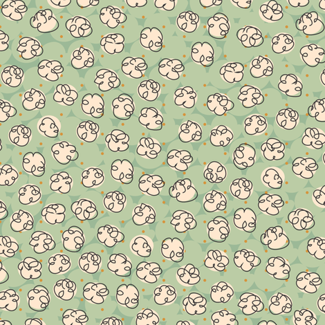 Popcorn-green fabric by melhales on Spoonflower - custom fabric