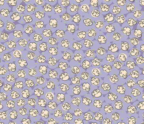 Popcorn-purple fabric by melhales on Spoonflower - custom fabric