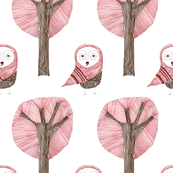 owl and tree