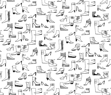 Shoe Obsession (large) fabric by leanne on Spoonflower - custom fabric