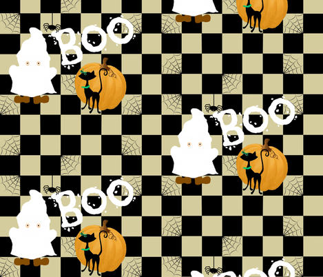 BOO! guess who fabric by paragonstudios on Spoonflower - custom fabric