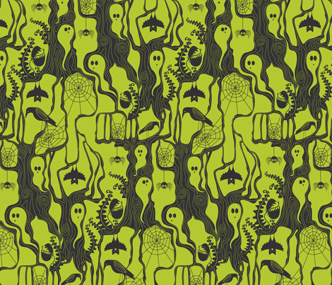 Garden of ghostly delights fabric by cjldesigns on Spoonflower - custom fabric