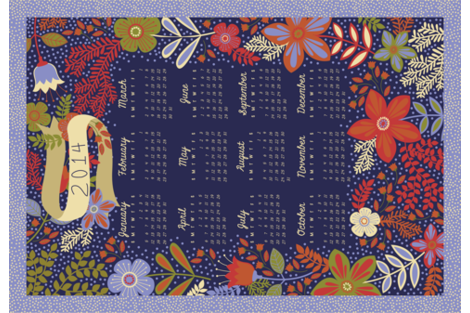 2014 Tea Towel Calendar fabric by alissecourter on Spoonflower - custom fabric