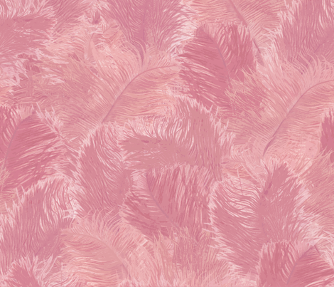 Ostrich Feather - large_rose fabric by minimiel on Spoonflower - custom fabric