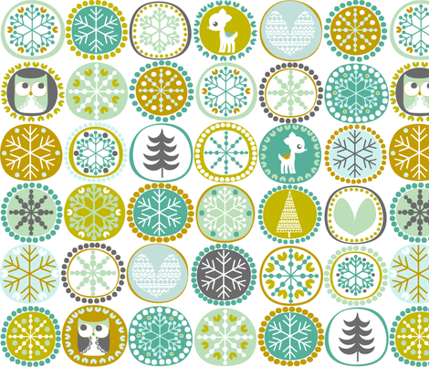 Winter Friends fabric by natitys on Spoonflower - custom fabric