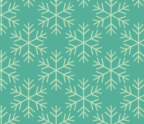 Snowflakes Aqua fabric by natitys on Spoonflower - custom fabric