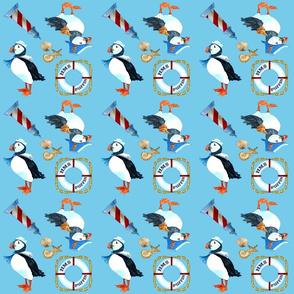 Puffin Navy (aqua)