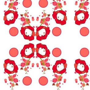 Round of poppies