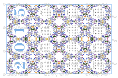 2015 Pansy Tea Towel Calendar