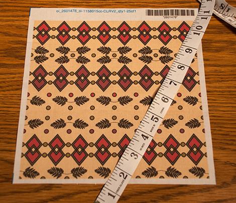 African inspired geometric fern pattern