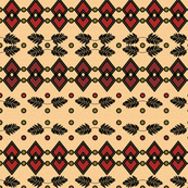 African inspired geometric fern pattern