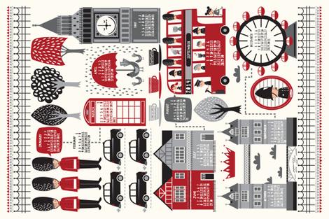 London Calling fabric by stacyiesthsu on Spoonflower - custom fabric