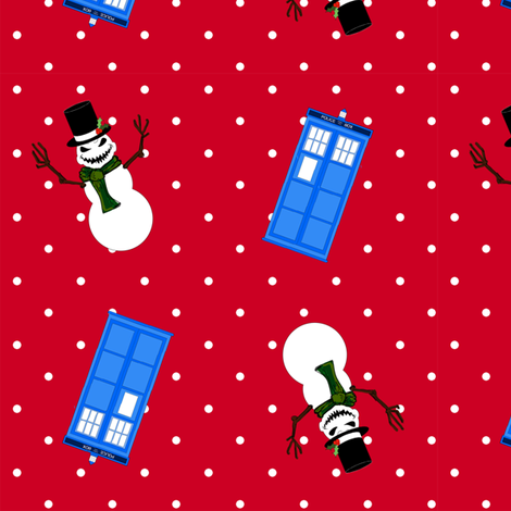 DoctorWho Snowmen fabric by costumewrangler on Spoonflower - custom fabric